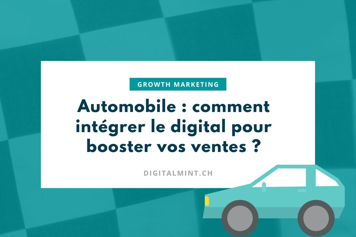 Automobile : comment le Growth Marketing peut-il vous aider à vendre plus de voitures ?