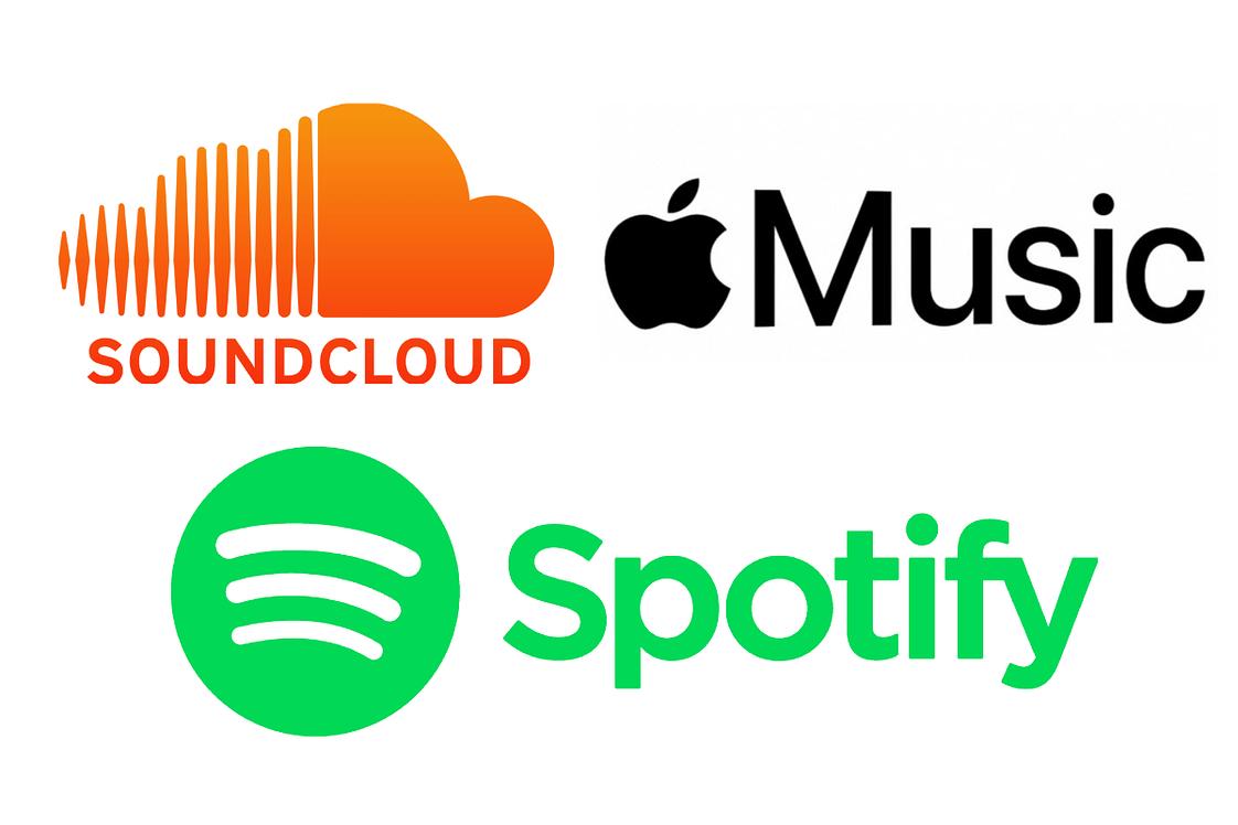 spotify, apple music, soundcloud, podcast, plateforme