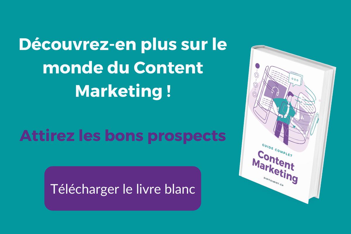 Téléchargement livre blanc Content Marketing
