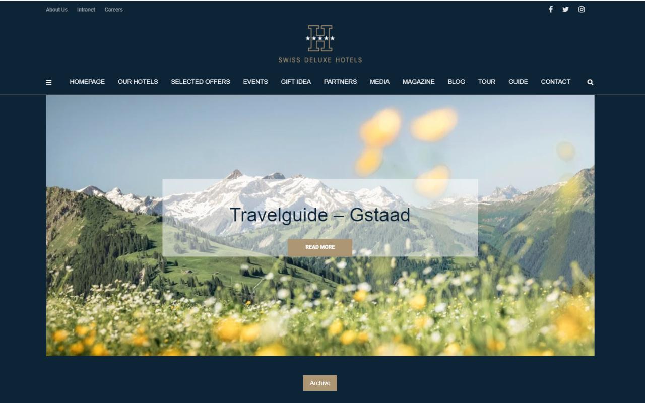 Magazine, luxe, blog, hôtels, suisse