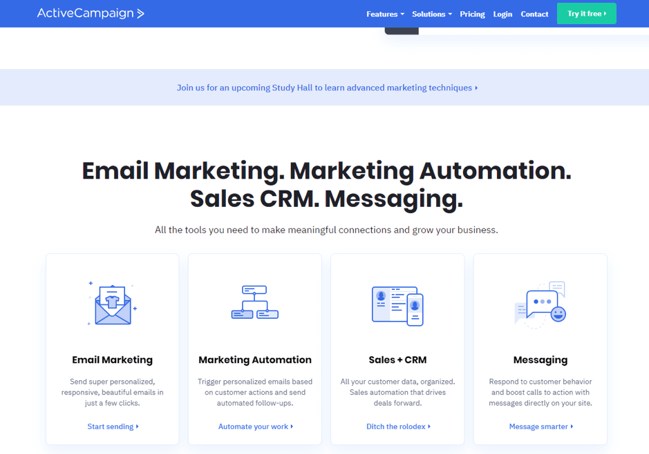 ActiveCompaign, une solution efficace d'e-mail marketing